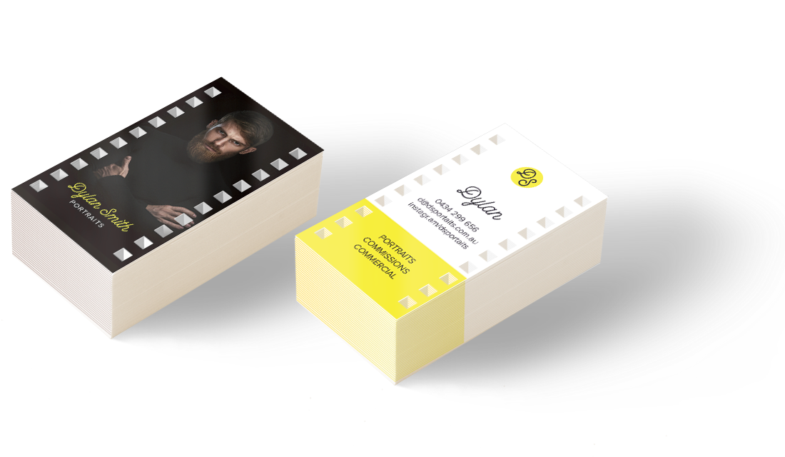Die cut analogue film business cards where the trade buys die cut business cards reheart Images