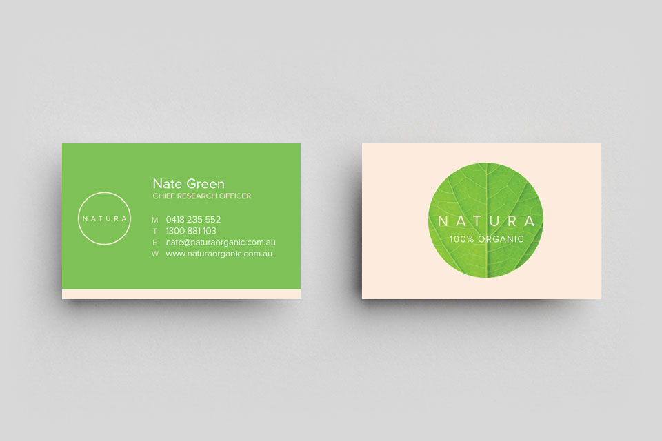 Natural Business Cards