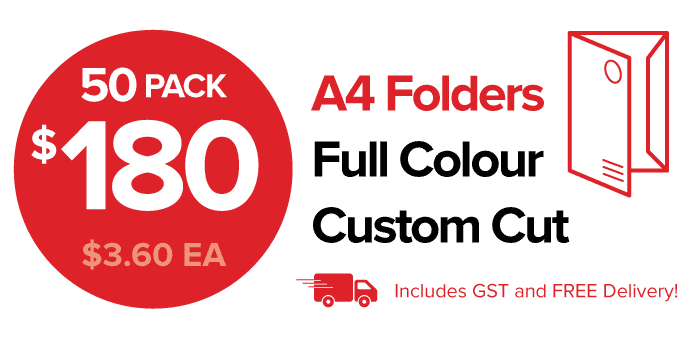 50 Pack of Custom Printed Presentation Folders
