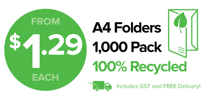 100% Recycled Stock Presentation Folders